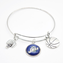 2017 New Basketball Charm Utah Bracelets&Bangle for Women Super Bowl Fans Jewelry