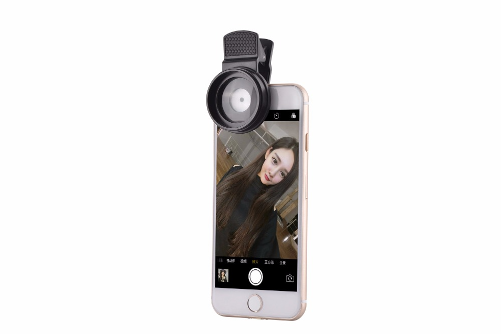 37mm 0.45X Super Wide Angle Lens 12.5X Macro Lens Clip For iPhone Xiaomi Samsung Cell Phone Lens 2 in 1 Camera Lens Kit 8