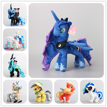 Deluxe 8 Style to Choose Little Horses Nightmare Luna Moon Daring Do Plush Soft Toy Stuffed Dolls Girls Bert Gift 38 CM(China)