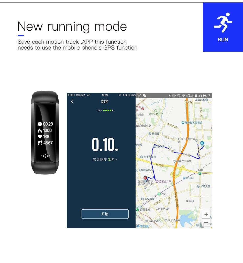 New M2Z smart band fitness tracker wristband heart monitor intelligent blood pressure wrist bracelet gift Black Friday deals