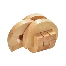 Classical Chinese Wooden Lock 6 Sticks Interlocking Kong Ming Luban Lock Educational Toy for Adult Children Brain Training Toy