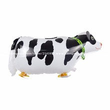 10pcs/lot Big Size Walking Cow Foil Balloons Animal Helium Balloon in Littlest Pet Shop for Birthday Party Kids Toys(China)
