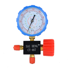 1pc / 2pcs A/C System Air Conditioning Manifold Gauge Mayitr R134a R404a R22 R410a Refrigerant Pressure Manometer With Valve(China)