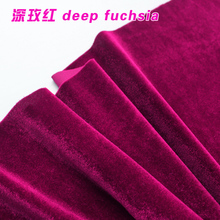 Deep Fuchsia Silk Velvet Fabric  Velour Fabric  Pleuche Fabric  Clothing Fabric  Evening Wear  Sports wear  Sold By The Yard
