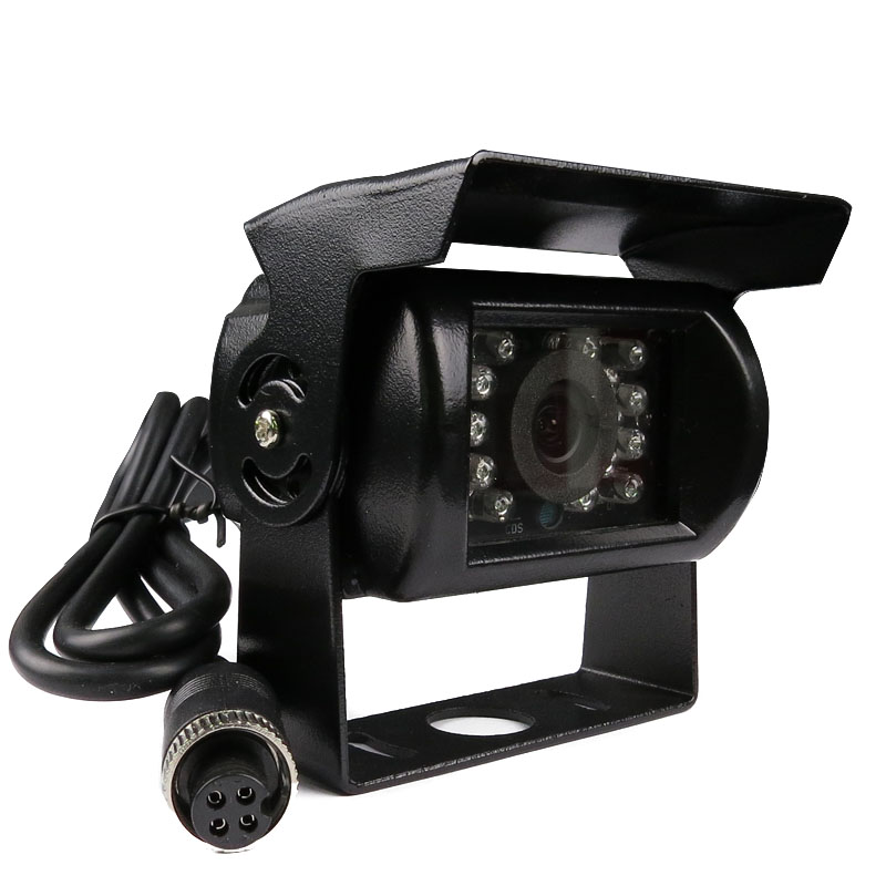 New 4CH 2 SD 256G GPS Track Car Vehicle DVR Video Recorder + Waterproof IR CCTV Rear View Camera For Truck Van Bus Free Shipping