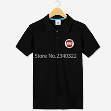 Car 4S shop short-sleeved Fiat POLO shirt overalls clothing fans logo Polos shirts