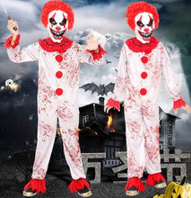 Buy scary clown jumpsuit children clown costume kids halloween costume zombie costume clothes funny cosplay children for $33.90 in AliExpress store