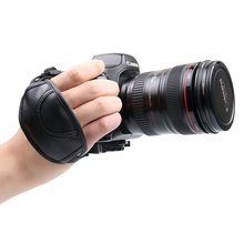 2016 Fasion 2pcs/lot Camera Wrist Hand Strap Leather Soft Universal Grip Wrist Belt for Mostly SLR/DSLR Black Oval Hot