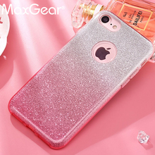 Buy Luxury 3 1 Bling Card+PC Hard Case iPhone 7 6 6S Plus Clear Colorful Shining Glitter Back Cover iPhone 6 7 6S for $2.56 in AliExpress store