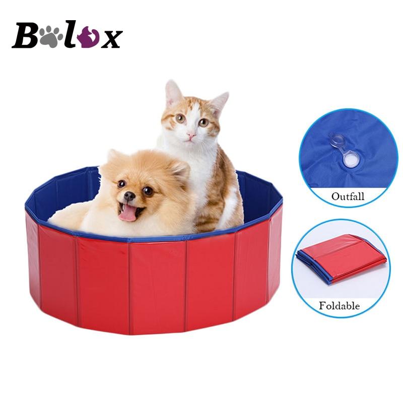 Durable PVC Foldable Pet Bathtub Portable Folding Dog Bathtub Wooden Bottom Swimming Bath Pond for Dog Pool Baby Pet Bath Tub