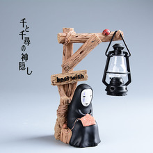 Super Cute Japan Anime Spirited Away No Face Man LED Collection Figure New Box