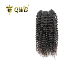 QWB Kinky Curly Free shipping 12''~22'' Brazilian Virgin Hair Queen Weave Beauty LTD Nature Color 100% Human Hair Weaving(China)