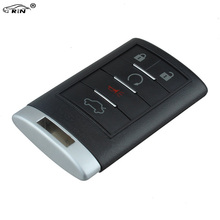 RIN 315mhz 5Buttons New Entry Remote Car Key Fob for Cadillac CTS DTS STS 0UC6000066 Remote Key