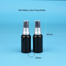 10pcs/Lot 30ml Glass Empty Essential Oil Bottle Lotion Pump 1oz/ 30cc Refill Parfum Women Cosmetic Container Black Lip Pot