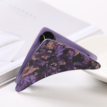 Elegant Plastic Hair Barrettes Accessories Purple for Womens Triangle Shape Cheap Hair Holded Claws Grip Girls Jewelry