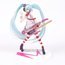 Hatsune Miku Greatest Idol Ver. Electric Guitar Miku PVC Anime Cartoon Doll Action Figure Collectible Model Toy
