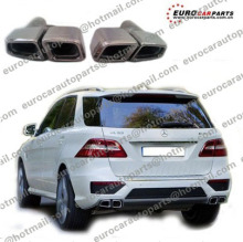 muffler tips for MB ML-class W164 ML 63 style with logo