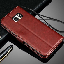 Promotions S7 Leather Wallet Case for Samsung Galaxy N9150 S4 S5 S6 edge Plus S7 edge A7 A8 2015 Note 5 4 3 Phone Cases Bags