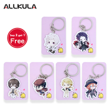 Anime Bungou Stray Dogs Atsushi Nakajima acrylic Keychain Action Figure 6 Styles Pendant Key Accessories WHYQ001 LTX1(China)