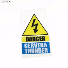 Car Styling Reflective Motorcycle Helmet Bike Decals Vinyl Tape for shoei GERVERA THUNDER DANGER(China)