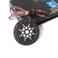 Scalar Quantum Energy Pendant Japanese Science Technology Charms With FIR Stone With Rope Chain Necklace