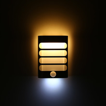 1W 3.7V LED Motion Sensor Activated Night Light USB Wireless Rechargeable Wall Lamp Pure White Warm White(China)