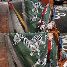 120pcs/lot zebra print scarf shawl pashmina(China)