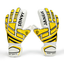 JANUS Professional Soccer Goalie Gloves Adult Goalkeeper Gloves Children Thickened Latex Men Football Gloves Finger Protection
