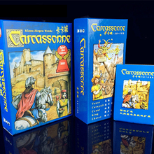 Carcassonne Board game Basic, The River/Tower/Catapult/Count/King/Chaser Board Game Card Game Party Family Game(China)
