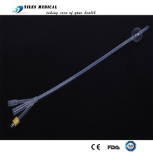 Double foley catheter Holes Silicone urethral sounds catheter 3 way 22FR silicone catheter men's sex catheter product