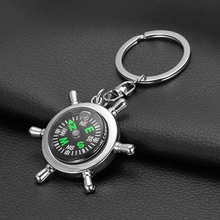 Unisex Fashion Compass Metal Car Keyring Keychain Key Chain Ring Keyfob Gift 8ITG(China)