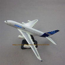 20cm Plane Model Air Prototype Airplane Airbus 380 A380 Development Aircraft Airplane Model Airways w Stand Aircraft(China)