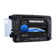 Aftermarket 7 inch 2 Din Universal Radio DVD Player GPS Car Stereo for 2006-2013 VW Volkswagen EOS Bluetooth SD Support Aux IPOD