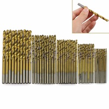 OOTDTY 50Pcs Titanium Coated HSS High Speed Steel Drill Bit Set Tool 1/1.5/2/2.5/3mm