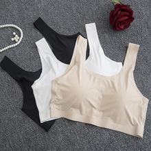 White Blue Black Purple Rose Red Apricot Padded Halter Crop Top Women Running Gym Fitness Bra Yoga Tank Top Sports Bra Women 3XL(China)