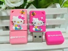 100% real capacity Cartoon lovely cat model USB Flash drive Pen Drive Stick 1GB 2GB 4GB 8GB 16GB S235 #AA