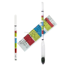 3 Triple Scale Hydrometer For Home brew Wine Beer Cider Alcohol Testing Scale H06
