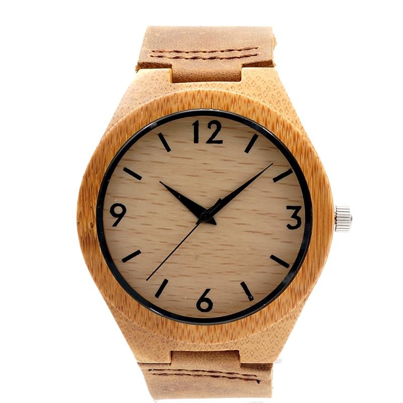 BOBO BIRD Leather Wood Watches Men Quartz Analog Watches Casual Cool Watch Men Watches 2016<br><br>Aliexpress