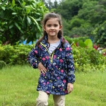 Waterproof Windproof Baby Girls Jackets Child Coat Children Outerwear Warm Polar Fleece For 3-12T Winter Autumn