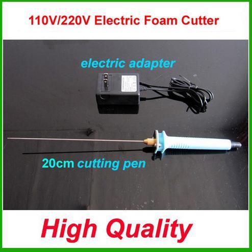 Free shipping Electric Foam Cutter 20cm Hot Knife Styrofoam Cutting Pen+ Electronic Voltage Transformer Adapter<br>