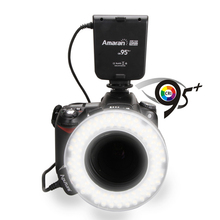 Aputure HN100 CRI 95+ Amaran Halo LED Ring Flash light For Nikon D7100 D7000 D5200 D5100 D800E D800 D700 D600 D90 DSLR Camera(China)