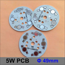 20 Pcs/lot LED Aluminum Plate 5W Round heat sink 49mm LED High Power PCB Plate Circuit Base For 5W LED Lamp(China)