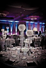hotel supplies wedding crystal table decoration fountain table flower decor Candelabra Candle Holder wedding Centerpiece