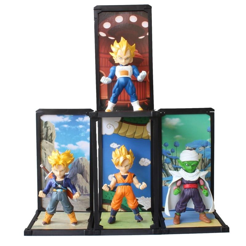 4 pcs/Set Anime Dragon Ball Z Action Figures Son Gokou Vegeta Trunks Piccolo PVC Super Saiyan Model Figures Dragonball Z Toy<br><br>Aliexpress