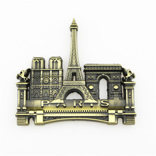 Limited Offer, Quality Fridge 3D Resin Magnets, Lovely Eiffel Tower Metal Refrigerator Sticker, Kitchen Decoration, Paris, Frech