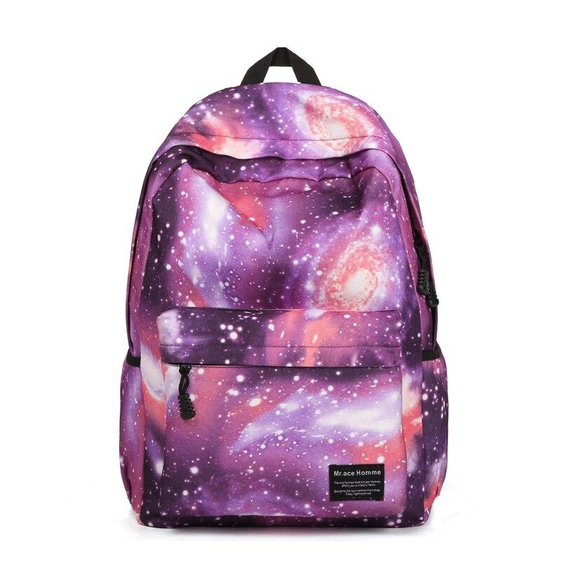 2016 Korean School Bags For Sale Shoulder School Bag For Teenage Girls Galaxy Space Printing Schoolbags Backpack Street Graffiti<br>