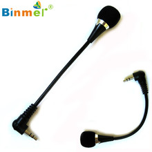 Best Quality 2016 New Mini 3.5mm Jack Flexible Microphone Mic For PC Laptop Notebook Skype OCTX30(China)