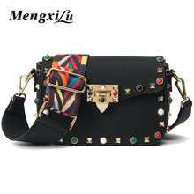 Color Rivet Women Crossbody Bags High Quality Women Messenger Bags Luxury Handbags Women Bags Designer Female Leather Handbags