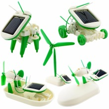 6 in 1 Creative DIY Education Learning Power Solar Robot Kit Children Toys Gift DIY Solar energy TOY