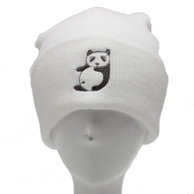 Winter beanies autumn gorros panda womens beanie hat women cotton solid High Cost performance casual multifunctional skullies